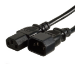 Videk IEC M (C14)/IEC F (C13) LSZH, 1m power cable Black C14 coupler C13 coupler
