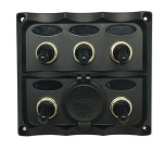 Generic 5 Switch Panel with Dual USB 4.2A Socket