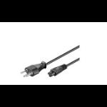 Microconnect PE160818 power cable Black 1.8 m Power plug type J C5 coupler