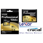 Lexar 1066x 32GB Compact Flash CF Card Speed Upto 160MB/s VPG-65 Standard, Ideal for DSLR Camera, HD Camco