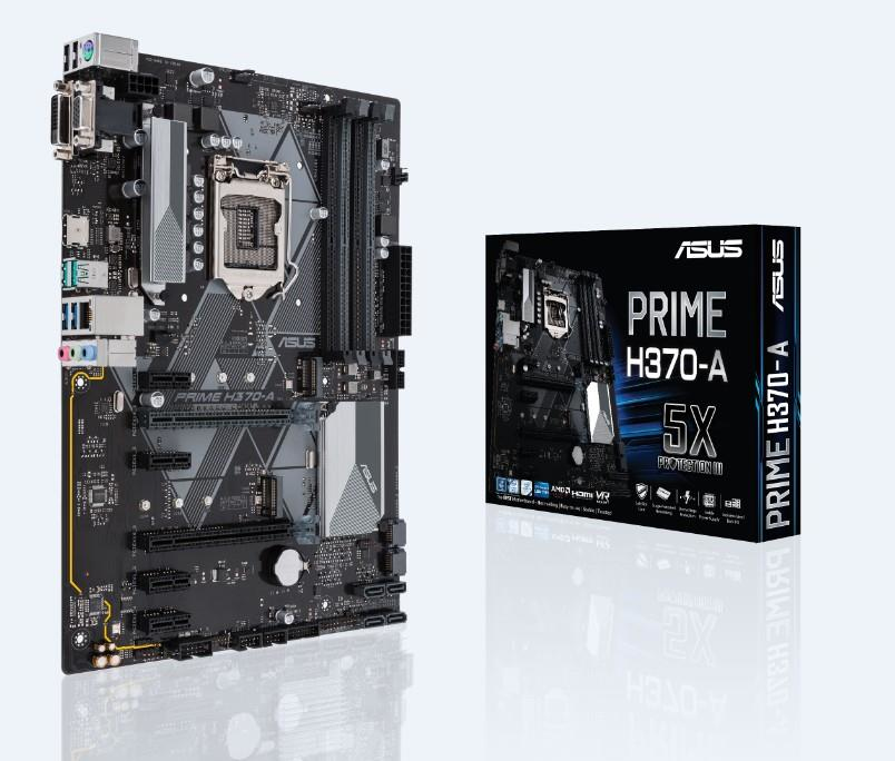 ASUS PRIME H370-A motherboard LGA 1151 (Socket H4) ATX Intel® H370