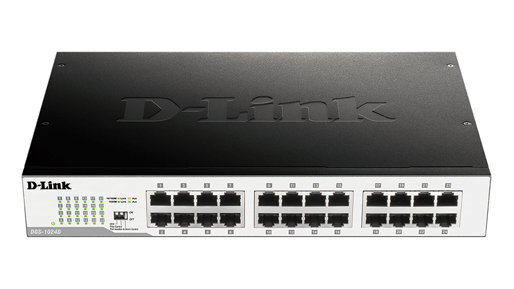 D-Link DGS-1024D switch No administrado Gigabit Ethernet (10/100/1000) Negro, Plata 1U