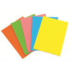 ACCO OFFICE PADS ACCO A5 FLURO 40LF 5 ASSORTED COLORS(PK10)