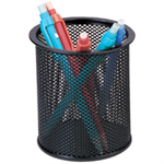 Q-CONNECT MESH PEN POT BLACK