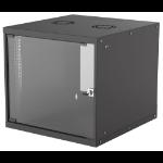 "Intellinet 19"" Basic Wallmount Cabinet, 9U, 560mm Deep, IP20-Rated Housing, Max 50kg, Flatpack, Black"