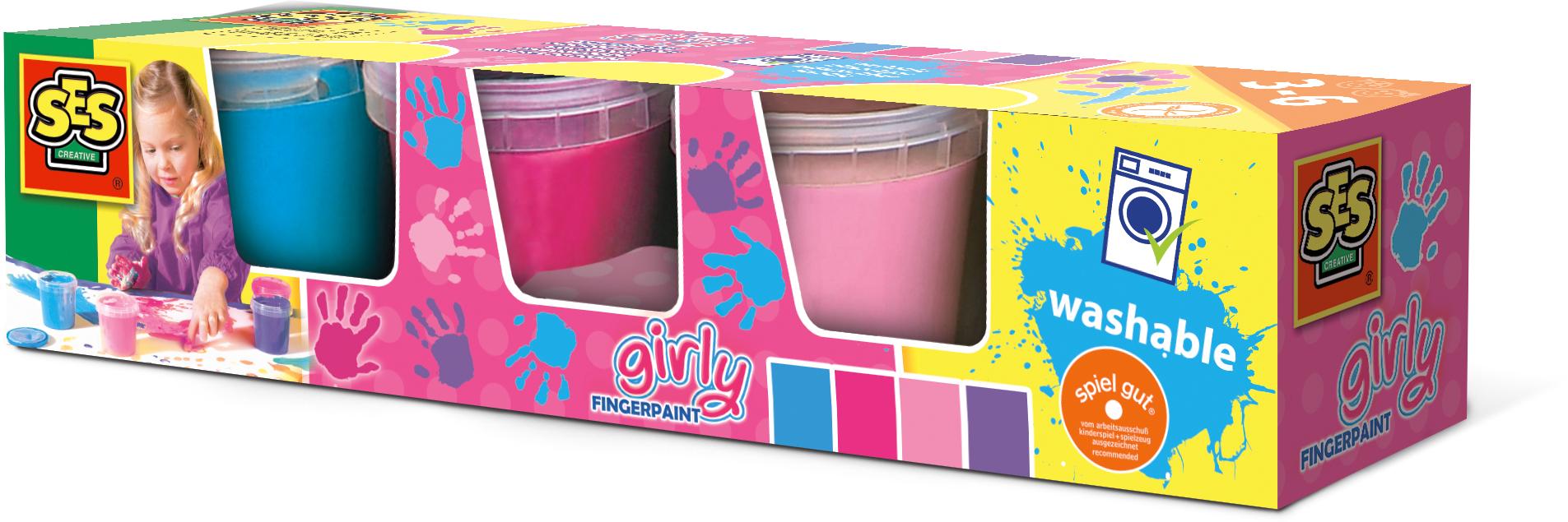 SES Creative Fingerpaint glimmer 4 colours