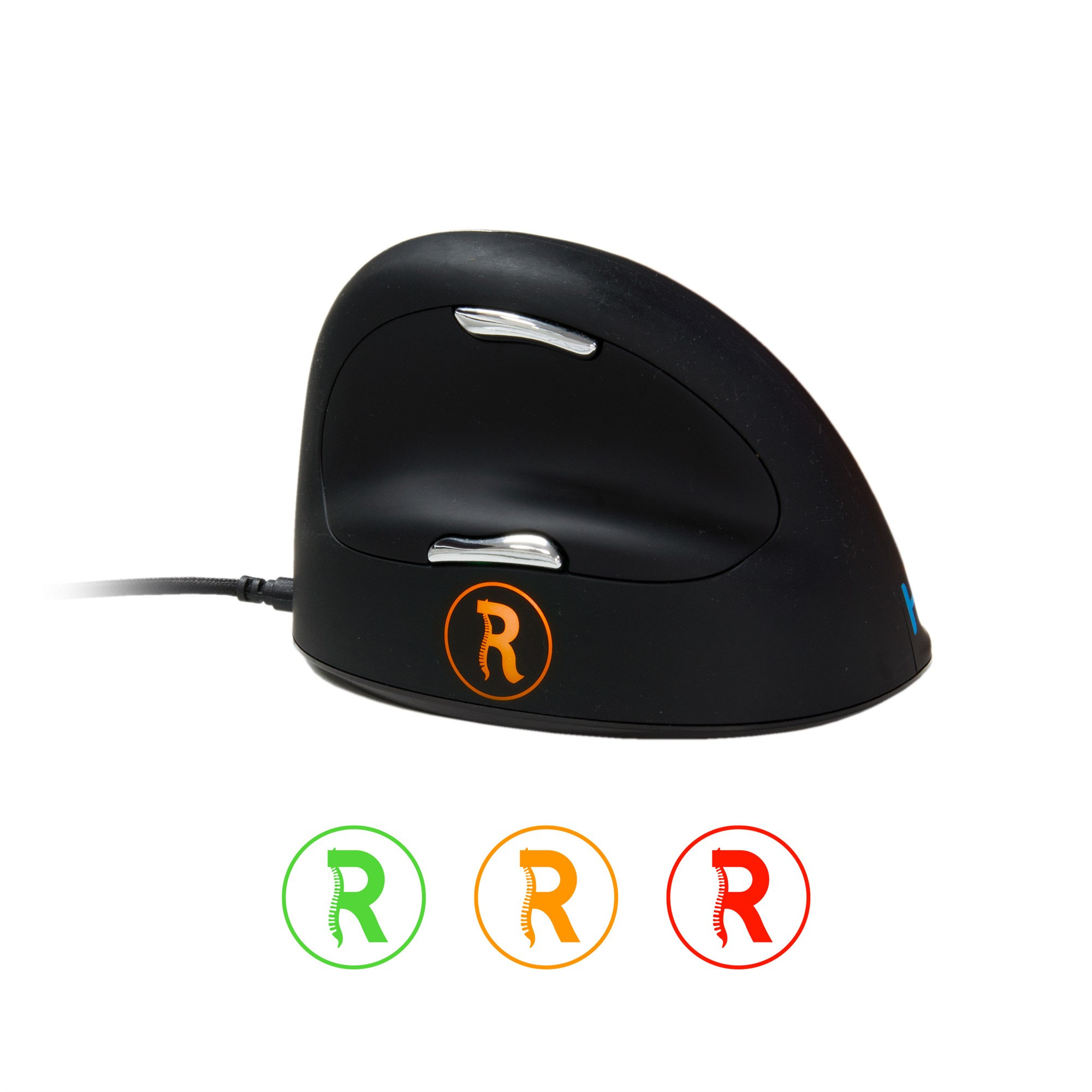 R-Go Tools Break HE Mouse, Ergonomic mouse, Anti-RSI software, Large (above 185mm), Right Handed, Wired
