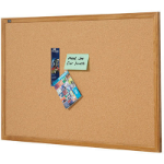 QUARTET CORKBOARD OAK FRAME 1800 X 1200MM