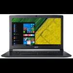 "Acer Aspire 5 A517-51-50EE Zwart Notebook 43,9 cm (17.3"") 1920 x 1080 Pixels Intel® 8ste generatie Core™ i5 i5-8250U 8 GB DDR4-SDRAM 1128 GB HDD+SSD"