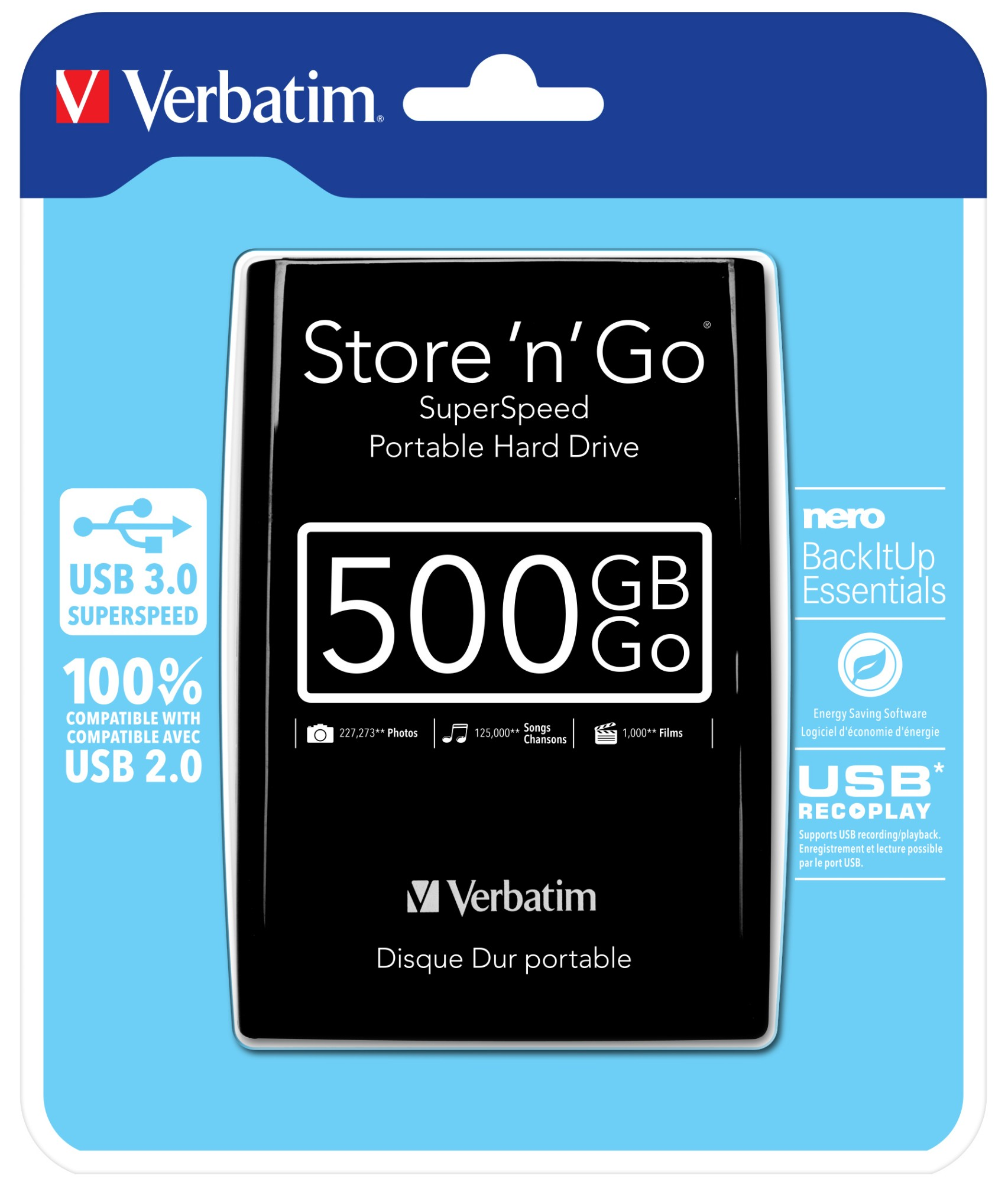 Verbatim VB-25U3-500G01