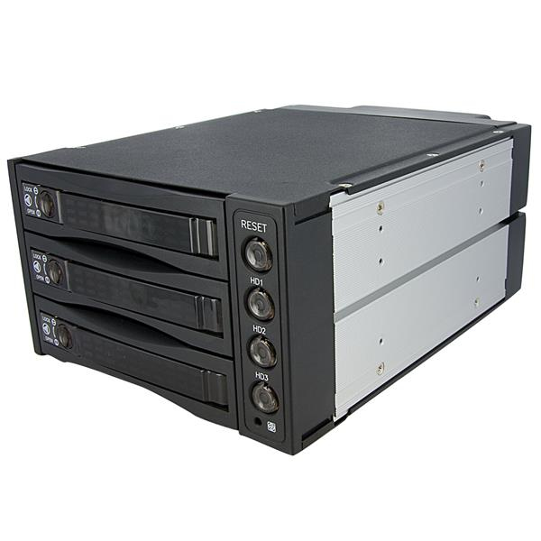 StarTech.com Hot Swap SATA/SAS Backplane RAID Bays – 3 Hard Drive Mobile Rack