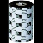 Zebra 2300 Wax 110mm x 300m printerlint Zwart
