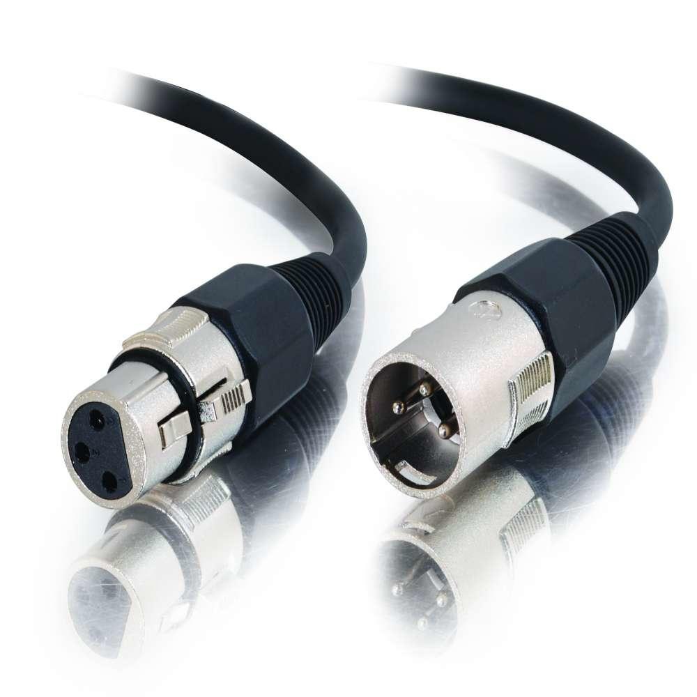 C2G 0.5m Pro-Audio XLR Cable M/F cable de audio 0,5 m XLR (3-pin) Negro