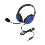 Ergoguys Listening First Binaural Head-band Blue headset