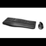 Kensington Pro Fit Ergo keyboard RF Wireless + Bluetooth QWERTY UK English Black