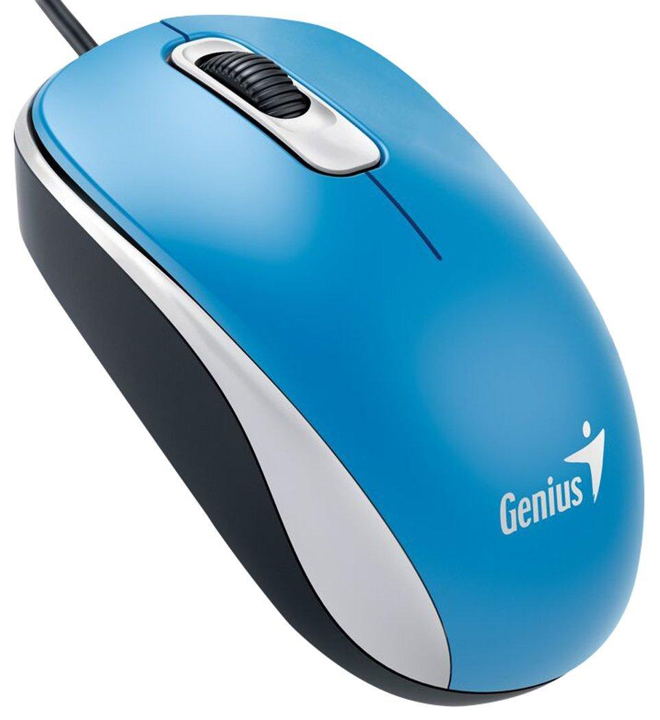 Genius DX-110 USB Optical 1000DPI Ambidextrous Blue mice