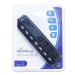 MediaRange MRCS504 interface hub 480 Mbit/s Black