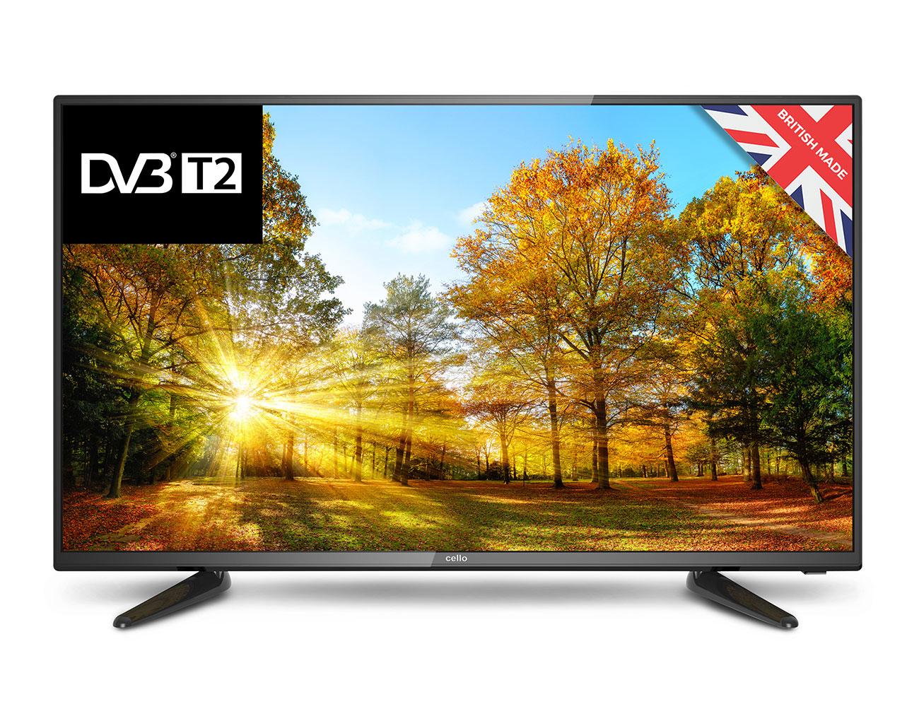 """Cello C40227T2 TV 101.6 cm (40"""") Full HD Black"""