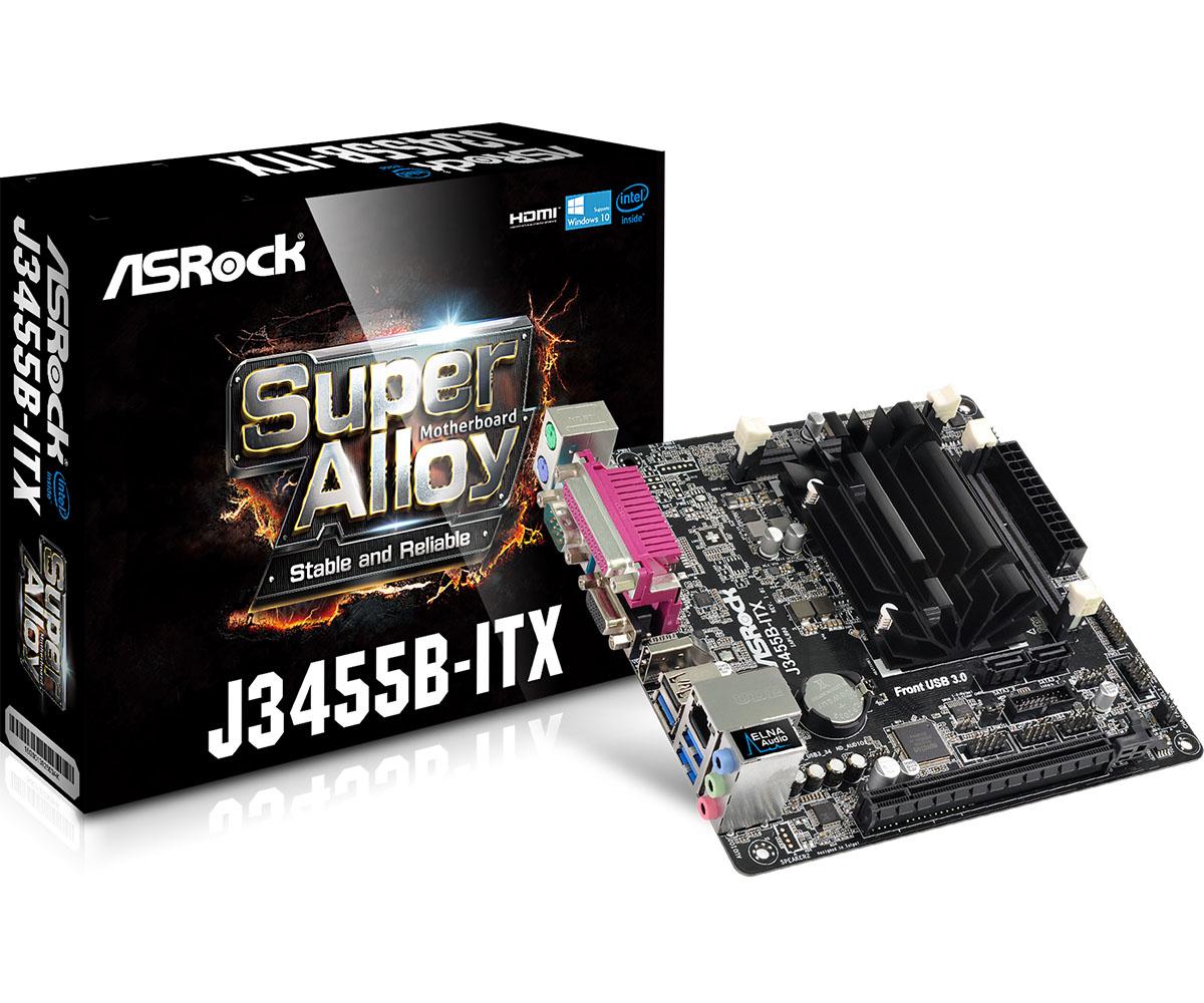 Motherboard J3455b-itx Intel J3455 2 X DDR3 USB 3.1 SATA 3 7.1ch Hd Audio Mitx
