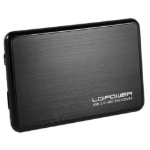 "LC-Power LC-25BUB3 storage drive enclosure 2.5"" Aluminium, Black"