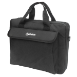 "Manhattan London Laptop Bag 14.1"", Top Loader, Accessories Pocket, Shoulder Strap (removable), Notebook Case, Black, Three Year Warranty"
