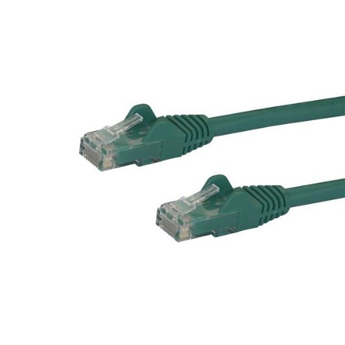 StarTech.com Cat6 patch cable with snagless RJ45 connectors – 100 ft, green