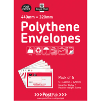 POSTPAK POLY ENVELOPES 440 X 320 PK 5