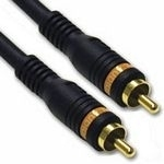 C2G 3m Velocity Digital Audio Coax Cable 3m RCA RCA Black coaxial cable