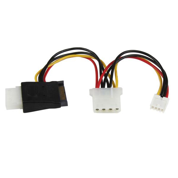 StarTech.com LP4 to SATA Power Cable Adapter with Floppy Power LP4SATAFMD