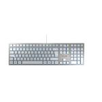 CHERRY KC 6000 Slim keyboard USB US English Silver, White JK-1600EU-1