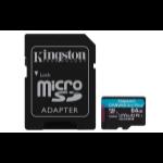 Kingston Technology Canvas Go! Plus Flash Speicher 64 GB MicroSD UHS-I Klasse 10