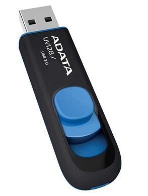 ADATA 64GB DashDrive UV128 USB flash drive USB Type-A 3.2 Gen 1 (3.1 Gen 1) Black, Blue