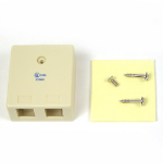Belkin Ivory 2-Position Surface Mounting Box