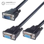 CONNEkT Gear 150mm VGA Monitor Splitter Cable - Male to 2 x Female