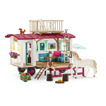 SCHLEICH Horse Club Caravan for Secret Club Meetings Toy Playset, 5 to 12 Years, Multi-colour (42415)