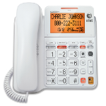 AT&T CL4940 Analog telephone Caller ID White telephone