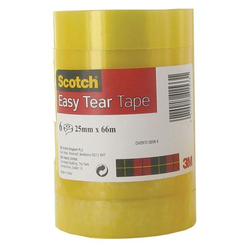 Scotch EASY TEAR CLR TAPE 25MMX66M
