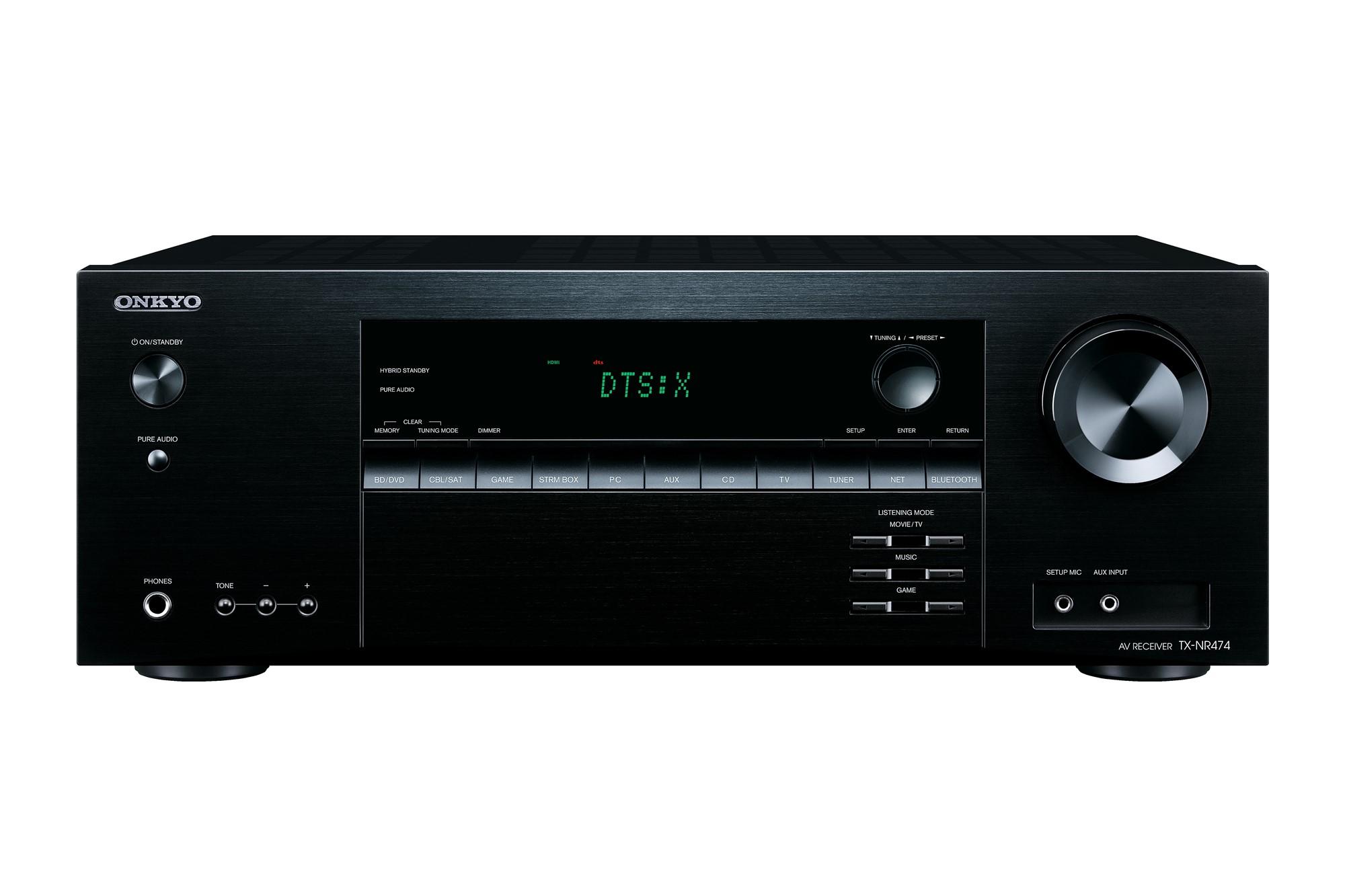 ONKYO TX-NR474 5.1channels Surround 3D Black AV receiver