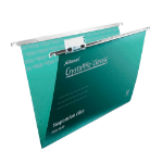 Rexel Crystalfile Classic Foolscap Suspension File 15mm Green (50)