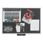 JUSTICK LITE NOTICEBOARD ELECTRO ADHESION 600 X 900MM BLACK