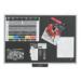 JUSTICK LITE NOTICEBOARD ELECTRO ADHESION 600 X 900MM BLACK