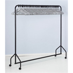 FSMISC GARMENT RAIL BLACK / 30 GREY HANGERGERS