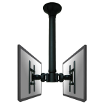 "Newstar TV/Monitor Ceiling Mount for Dual 10""-40"" Screens (Back to Back), Height Adjustable - Black"