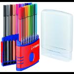STABILO Pen 68 felt pen Multicolour 20 pc(s)