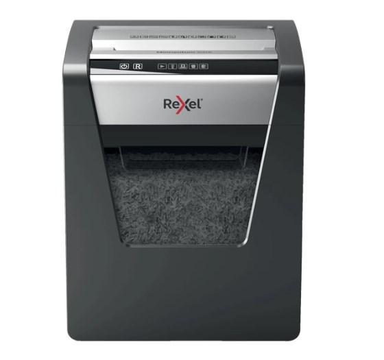 Rexel Momentum X415 triturador de papel Corte cruzado Negro, Gris