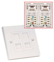 Lindy 60586 wall plate/switch cover White