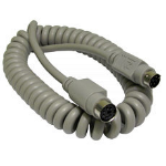 CABLES DIRECT 6 PIN MINI DIN M-F COILED 2 MS