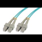 MCL 2m SC/SC cable de fibra optica Turquesa
