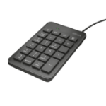 Trust 22221 numeric keypad Notebook/PC USB Black