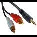 Lindy 35680 audio cable 1 m 3.5mm 2 x RCA Black